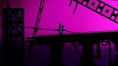 Cyberpunk City wip 02 (Chris 'Beard') Tags: city bridge pink wild motion silhouette ramp punk cityscape purple lego onramp style off stop animation cyber stopmotion wildstyle wyldstyle offramp wyld