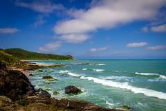 Praia Vermelha - Penha SC BRAZIL (FOTOdair) Tags: blue sea cloud color praia beach cores landscape mar céu nuvens onda penha