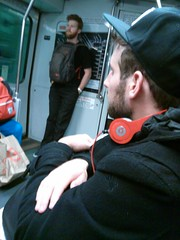 handsome men with beards on Muni Metro (Fulgence photos) Tags: sanfrancisco men train underground subway beard muni goodlooking hunks