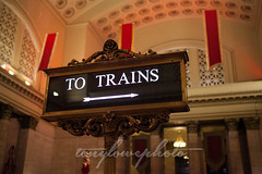 Union Station - Chicago (Tony Lowe Photo) Tags: city travel november people urban holiday chicago station sign statue architecture hub train design hall photo moving illinois big movement downtown glow room union great grand trains tony column downstairs travelers traveler lowe tonylowe tonylowephoto