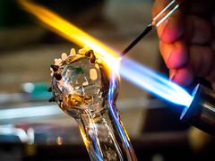 heat (Lisa Ouellette) Tags: 2ndsaturday sacramentoartglass glassblowing hot molten torch marbleinthemaking notadildo