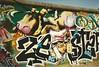 Berlin 1995 (DrGarageland) Tags: berlin art wall graffiti cow mural piece spraycan odem loomit zebster