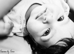Eyes talk louder than words (TasveerByTaru) Tags: pictures life old girls portrait bw baby 6 white black girl monochrome smile by kids contrast portraits canon children photography grey photo kid high eyes toddler infant babies photographer child photos lifestyle style pic mumbai infants month t3i iphone taru taster tasveer tasveerbytaru