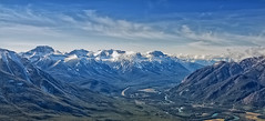BANFF PANO (mark_rutley) Tags: autumn sky snow canada clouds landscape rockies view alberta vista mountians sulphurmountain canadianrockies outdoorphotography