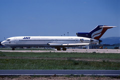 JAT B727-2H9 YU-AKG BCN 23/06/1997 (jordi757) Tags: barcelona nikon airplanes bcn kodachrome boeing f90x kodachrome64 avions 727 jat elprat b727 b727200 lebl yuakg