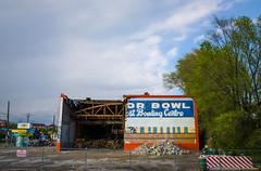 [O'Conn]or Bowl (JeffStewartPhotos) Tags: toronto ontario canada demolish closed demolition vacant condos bowlingalley condominiums nomore wrecking unused eastyork comingdown oconnordrive beingtorndown oconnorbowl makingwayforcondos makingwayforcondominiums