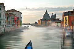 Foggy Venice Morning (AjayGoel2011) Tags: world morning venice italy color fog sunrise landscape nikon italia explore gondola academia nikkor venezia creativecommon ajaygoel moment flickriver bestcapturesaoi elitegalleryaoi decisive
