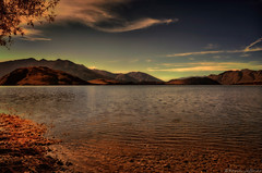Is there life on Mars? (Kevin_Jeffries) Tags: autumn light red sky mars cloud brown mountain lake tree art nature water beauty landscape artistic surreal hills duplex diffusion lakewanaka glendhubay