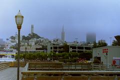 1994-07-Californie-San Francisco-Coit Tower;Transamerica Pyramid_[126-1589] (jacquesdazy) Tags: sanfrancisco coittower transamericapyramid californie 199407 pc126