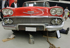 1958 Chevrolet Impala Sport Coupe (crusaderstgeorge) Tags: red cars chevrolet sport sweden 1958 sverige impala coupe americancars sandviken redcars gvleborg americanclassiccars 1958chevroletimpalasportcoupe arenawheels crusaderstgeorge