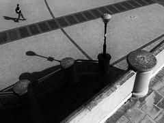 Trajectory (Neil Johansson LRPS) Tags: uk light urban blackandwhite bw white black monochrome wales dark landscape photography photo noir fuji shadows cymru perspective photograph shade figure fujifilm cinematic rhyl x30 linear filmnoir urbanlandscape northwales denbighshire yrhyl fujifilmx30 urbanwales