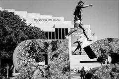Performing Arts (sinisa ostojic) Tags: bw film analog 50mm blackwhite grain performingarts streetphotography rangefinder brisbane summicron rodinal acros leicam3 50mmf2 filmphotographymeetup sinisaostojic