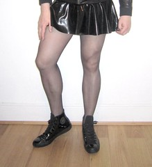 Patent Converse (Scott Martin.) Tags: gay tights skirt rubber converse latex patent gaytights mantyhose