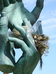 Hands (Adventures of KM&G-Morris) Tags: travel sky sculpture art beach grancanaria hands canaryislands laspalmas