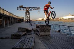 Israel (Hemo Kerem) Tags: street sea water bike port israel telaviv minolta sony 28mm extreme biker mf alpha manualfocus tlv telavivport rokkor minoltamd28mmf28 extremebike a7rii sonya7rm2 a7rm2 ilce7rm2