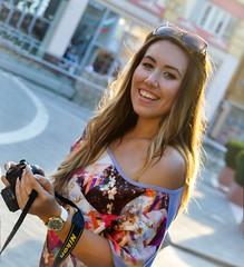 Be happy! )) (teodoraGran) Tags: smile me nikon sunset portrait sun plovdiv bulgaria purple sunglasses flash
