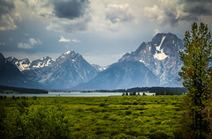Oxbow Bend (donnieking1811) Tags: mountains skyline clouds landscape outdoors rivers wyoming tetons oxbow