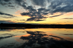 Effet miroir (pascal_roussy) Tags: sunset canada color nature water clouds landscape spring nikon eau qubec nuage paysage printemps couleur coucherdesoleil gaspsie pabos d3100