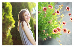 31/31 (Mary Jo.) Tags: flowers diptych light smile morning green maryjo mj canon 60d 50mm summer happy humid