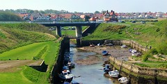 Seaton Sluice (annebower10) Tags: road uk bridge sea england boats harbour side north east constable melton seatonsluice