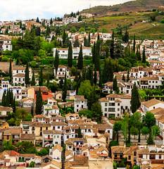 The Alhambra, Granada - view to the Albaicn district of the town (peripathetic) Tags: beauty canon spain worldheritagesite espana alhambra granada 5d palaces 2016 nasrid nazaries 5dmkiii 5dmk3 canoneos5dmk3