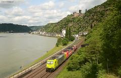 119 008-0 mit 185 589-9 und DE 662 Rhein-Cargo (vsoe) Tags: railroad train germany deutschland engine eisenbahn railway bahn freighttrain zge gterzug gterzugstrecke