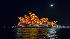 Vivid 2016!! (ImagesByLin) Tags: light moon colour geometric reflections colours patterns sydney sails vivid australia operahouse sydneyhouse vivid2016