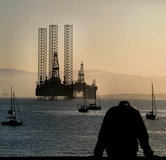 Looking down the Firth (ccgd) Tags: evening scotland highlands sundown rig oil cromarty gloaming
