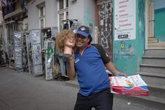 Radicalized by ISIS. Kreuzberg, August 2013. (joelschalit) Tags: berlin ethnicity immigration immigrants muslim multiculturalism multilingual advertising germany deutschland kreuzberg turkey dominospizza dominos isis joelschalit
