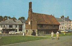 The Moot Hall, Aldeburgh old postcard early 1970s? (Spottedlaurel) Tags: ford cortina suffolk citroen ds renault policecar 16 1960s 1970s aldeburgh oldpostcard themoothall
