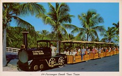 64-Passenger Conch Tour Train, Key West, Florida (SwellMap) Tags: architecture vintage advertising design pc 60s fifties postcard suburbia style kitsch retro nostalgia chrome americana 50s roadside googie populuxe sixties babyboomer consumer coldwar midcentury spaceage atomicage