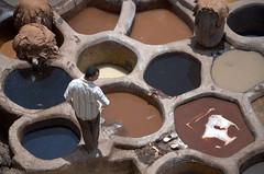 Tannery man (marianovsky) Tags: man leather morocco fez marruecos tannery cuero curtidor marianovsky