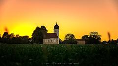 little church (CS-Fotografie Bad Aibling) Tags: sunset summer church canon landscape sonnenuntergang dusk sommer kirche chapel landschaft kapelle eos6d canoneos6d