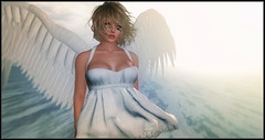 Angels by my side (Just...Eve) Tags: life white angel wings avatar sl secondlife second