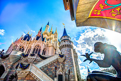 Dream Big (Lynleigh Cooper) Tags: park new family blue winter vacation sky favorite sun color castle art love colors beautiful beauty architecture clouds america outside amazing nikon colorful honeymoon day unitedstates princess florida unitedstatesofamerica perspective wideangle tourist disney disneyworld fantasy blueskies cinderella lovely waltdisneyworld magical themepark magickingdom familyvacation waltdisney favoriteplace sunflare cinderellacastle vividcolor d610 waltdisneyworldresort disneyvacation disneypictures disneyfun cinderellafountain disneycastles disneyphotos wideangledlens disneyphotography americanstaples nikond610