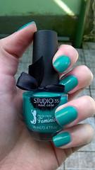 #Ariel (Pausa para Feminices) - Studio 35 (helenafilpopdabeleza) Tags: verde green ariel nails nailpolish unhas shimmer studio35 esmalte pausaparafeminices