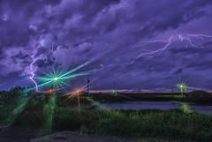閃電 lightning (bibi.barbie) Tags: taiwan 彰化縣 福興鄉 福寶濕地 夕陽 雲彩 海 天空 風景 剪影