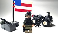 Happy Independence Day! + Ranger (Noric Warrenson) Tags: modern america army us ranger lego 4th july atv m60 murica cambat brickarms warrenson norric indepindence