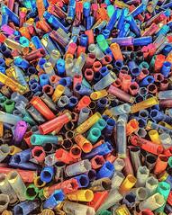 Empty Shotgun Cartridges on a Clay Shooting Range. (gizmo-the-bandit) Tags: clay shooting shotgun cartridge