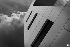 Incoming (patviau) Tags: building architecture blackandwhite mono monochrome windows lines shapes ottawa abstract clouds sky fineart