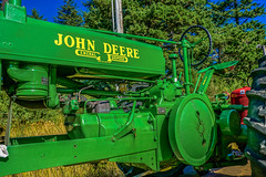 Pre-parade snap-shots--DSC01763--Port Orford 4th of July 2016 (Lance & Cromwell back from a Road Trip) Tags: tractor oregon sony oregoncoast 4thofjuly johndeere portorford farmtractor sonyalpha currycounty 4thofjulyjubilee dt1650mmf28 a77ii 20164thofjuly