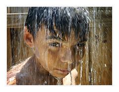 Water Curtain (fotoJENica) Tags: outdoor patio pool shower water curtain fun summer miami florida boy