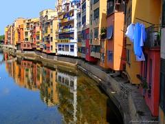 Girona sights and house facades (jackfre 2) Tags: catalunya spain girona city sights facades houses colours river reflections onyar