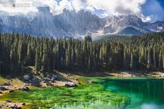 20160902_Lago di Carezza (Matteo Biguzzi [bigu77]) Tags: canon vacation valdifassa riflessi summer sky dolomiti dolomites hdr freedom blue unescoworldheritage lake green 2016 eos500d eosrebelt1i