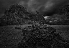 Im alten Steinbruch (tan.ja1212) Tags: steinbruch felsen langzeitbelichtung lzb monochrom schwarzweis