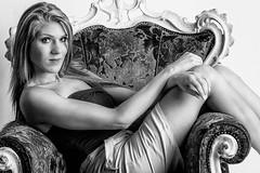 Edwinna (lecycliste57) Tags: studio girl glamour bw