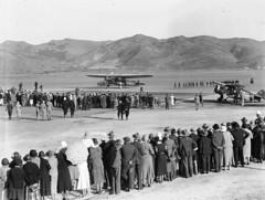 155; Southern Cross at Rongotai Aerodrome - 1933 (Wellington City Council) Tags: wellington historicwellington 1800s 1900s 1950s