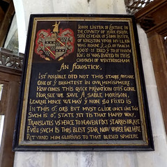 John Lister; an acrostic (Goolio60) Tags: wintringham yorkshire church monument tablet acrostic verse jacobean memorial
