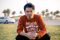 DSC_0388- (obetsis) Tags: street camera portrait tree me nikon background palm just 350 arabia 100 mm f18 1400 my 20 d5100 didnotfireshowexif nikond5100350mmf1820350mm1400100flashoff