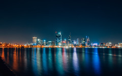 City at Night (Duen Ee Chan) Tags: city night long exposure perth blending